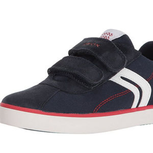 NEW Boy's GEOX Kilwi Navy Suede Canvas Sneakers 5Y
